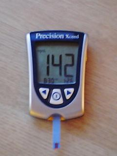 血糖値142