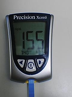 血糖値155