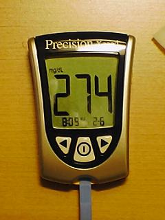 血糖値274