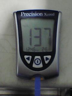 血糖値137