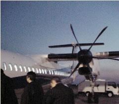 ボンバルディア製プロペラ機